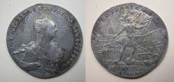 Silver prize ruble of Elizabeth