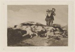 Enterrar y callar (Bury Them and Keep Quiet), Plate 18 from Los desastres de la guerra (The Disasters of War)