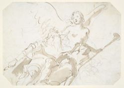 Apotheosis of an Aged Warrior, for a ceiling in the Ca' Rezzonico, Venice