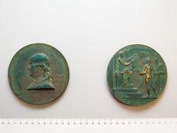 Medal Commemorating the bicentenary of the birth of Benjamin Franklin