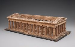 Model of Greek temple at Paestum