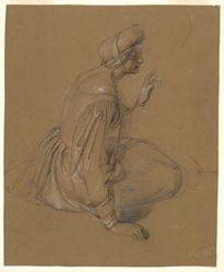 Study of a Seated Woman: St. Elizabeth