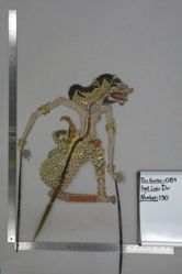 Shadow Puppet (Wayang Kulit) of Marica or Cakil, from the set Kyai Drajat