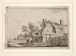 Village with a Watermill, from a set of 12 landscape etchings