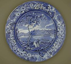 Plate with a view of Philadelphia, Fair Mount, Near
