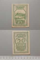 50 Heller from Aigen, redeemable 31 Oct. 1920, Notgeld