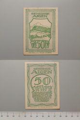 50 Heller from Aigen, redeemable 31 Oct. 1920, Notgeld