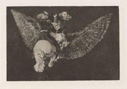 Disparate volante (Flying Folly), also known as Reniego al amigo que cubre con las alas y muerde con el pico (Renounce the Friend Who Covers You with his Wings and Bites You with his Beak), from the series Los disparates (Los proverbios)