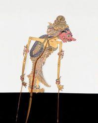 Shadow Puppet (Wayang Kulit) of Durga, from the consecrated set Kyai Nugroho
