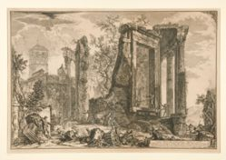 Altra Veduta del Tempio della Sibilla in Tivoli (Another View of the Temple of the Sibyl in Tivoli), from Vedute di Roma