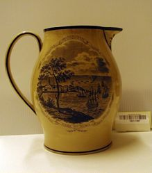 Pitcher Depicting the Battle of Stonington and the USS Guerriere