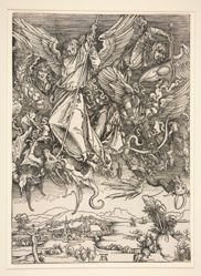 Saint Michael Fighting the Dragon, from The Apocalypse series