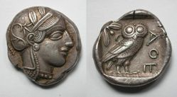 Tetradrachm from Clarentza