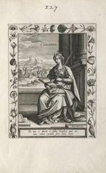 Saint Serapia, 1 of 25 plates from the series Martyrologium Sanctarum Virginum (Female Martyr Saints)