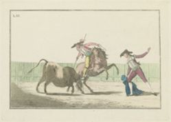 Plate III, from the series Colección de las principales suertes de una corrida de toros (Collection of the Main Actions in a Bullfight)