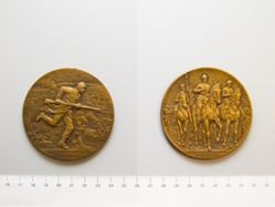 Belgian Medal Commemorating the Flanders Offensive and the Return of the King to Brussels