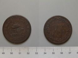 RH One Penny Token from Lower Canada