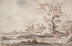 Landscape with Old Tree and Figures