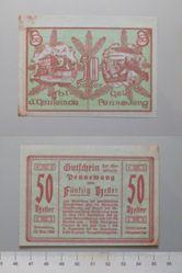 50 Heller from Pennewang, Notgeld