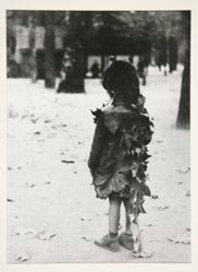 Petite fille aux feuilles mortes, Paris, from the portfolio Edouard Boubat