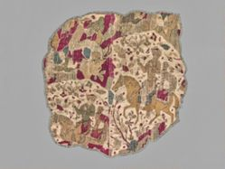 Fragment of a Tent Panel with a Hunting Scene
