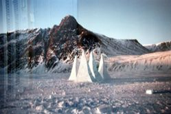 Snow Spires. Evening and Morning (Grise Fiord, Ellesmere Island)