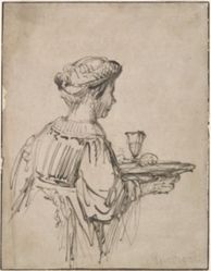 Woman with Tray