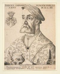 Portrait of Joannes Gemmel