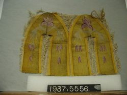 Tapestry-woven material for shoes