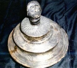 Bowl with a Lid in Form of a Human Head