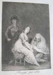 Ruega por ella. (Pray for Her.), pl. 31 from the series Los caprichos