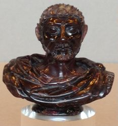 Miniature portait bust of Roman emperor