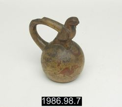 Stirrup Vessel with Bird