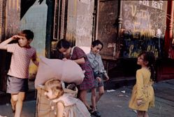 Helen Levitt, New York City (Children with Laundry)