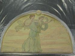 Heralds with Tambourine and Trumpet