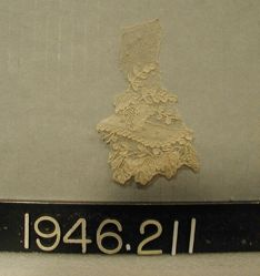 Fragment of fine needlepoint lace