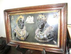 Relief Portraits of Napoleon and Josephine Commemorating their Coronation