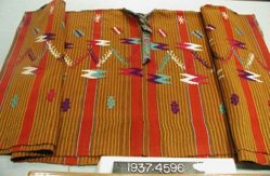 Shirt or huipil, plain cloth, brocaded