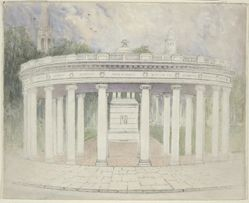 Proposed Colonade and Drinking Fountain on New Haven Green